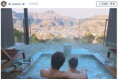 前田健太、娘と温泉で絶景を満喫…ファン「パパの背中が頼もしいぞ!」
