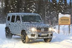豪雪が似合いすぎ…600馬力のメルセデス「AMG G63」次期型、安定のドライビングを見せつける【動画】