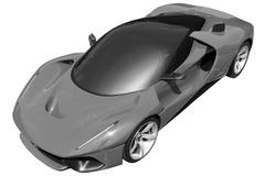 フェラーリ新型ハイパーカー、特許図面が流出!