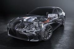 レクサス LS500h 新型、マルチステージハイブリッド搭載で350馬力か