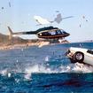 1977年 「私を愛したスパイ」 空の次は海中だ。ロボット的発想で、潜水モデルに変身する「ロータス エスプリ」は海でも陸でも恰好良かった。