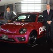 VWのティル・シェア代表取締役(右)とピーチの井上慎一代表取締役