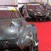 手前からレクサスLC500、ホンダNSX、日産GT-R。
