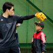 アディダスの野球教室で楽天・則本昂大が指導(2016年12月3日)