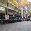 フォーミュラE東京丸の内デモラン(11月23日)。マシンはABT Schaeffler Audi Sportチームの「ABT Schaeffler FE02」、ドライバーは同チームのルーカス・ディ・グラッシ選手。