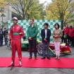 デモラン前のセレモニー。向かって左からグラッシ選手、シェフラージャパンのアジアパシフィックジャパン最高技術責任者のトーマス・スメタナ氏、片山氏、飯田氏。