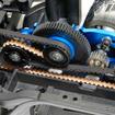 モーターが前後に動いても駆動ベルトの取り回しは変わらない