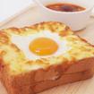 目玉焼きトースト& 肉団子のスープ (¥1,080)