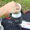 キャンプやツーリング向けのクッカーセット「クッカー&パーコレーター・ミルセット」