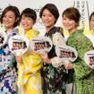 民放各局が共同でリオデジャネイロ五輪放送を実施。5人の女子アナウンサーが記者発表に登場(2016年7月7日)