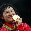 リオデジャネイロ五輪女子レスリング69キロ級で土性沙羅が金メダルを獲得(2016年8月17日)
