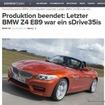 BMWZ4の生産終了を伝えた独『Bimmer Today』