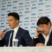 競泳選手の松田丈志が引退会見。二人三脚で歩んできた久世由美子コーチと28年を振り返った(2016年9月12日)