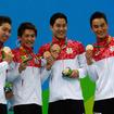 リオデジャネイロ五輪競泳男子800mリレーで日本代表が銅メダルを獲得(2016年8月9日)