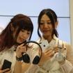 古畑奈和さん(右)、高柳明音さん(2016年9月16日)