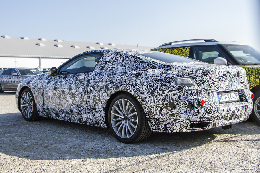 BMW 8シリーズ スクープ写真