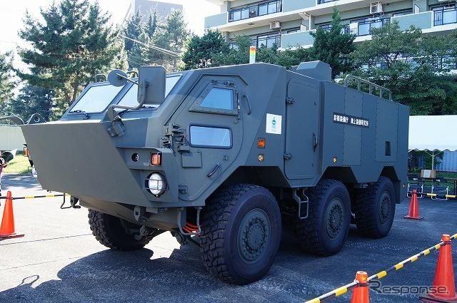 防衛装備庁・陸上装備研究所の一般公開において、開発中の「軽量戦闘車両システム」を初披露。