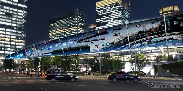 東京駅グランルーフ Light on Train(イメージ。2016年12月1~25日開催)