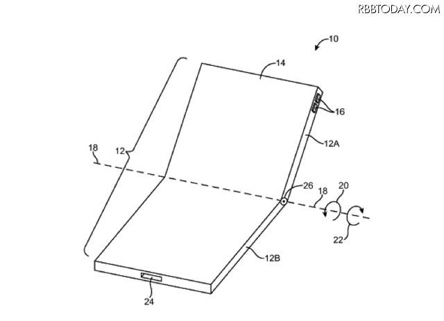 iPhone 8で採用?Appleが折りたたみスマホに関する新特許取得