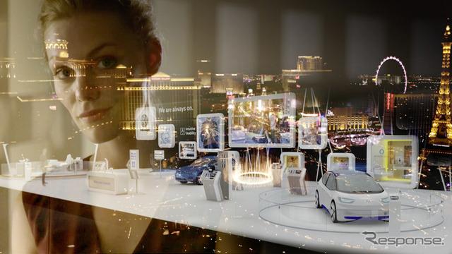 VWの次世代ディスプレイ&制御コンセプトの予告イメージ