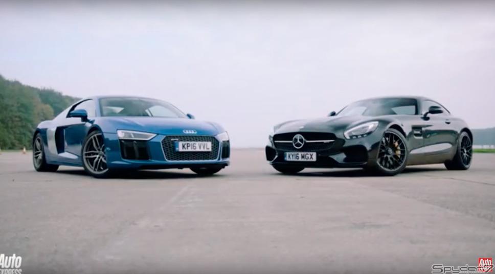 アウディ R8 V10 vs メルセデスAMG GT S