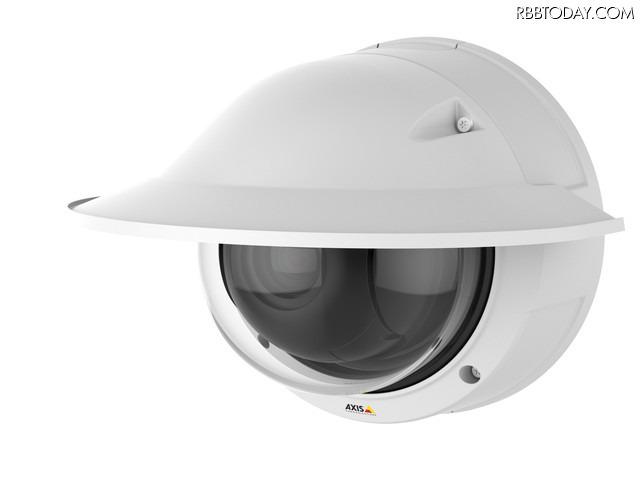 電子動体ブレ補正やIK10等級の耐衝撃性能、防水・防塵機能などを搭載し、厳しい環境下で使用可能。市外監視、交通、公共およびインフラ・プラントなどでの使用を想定している(画像はプレスリリースより)