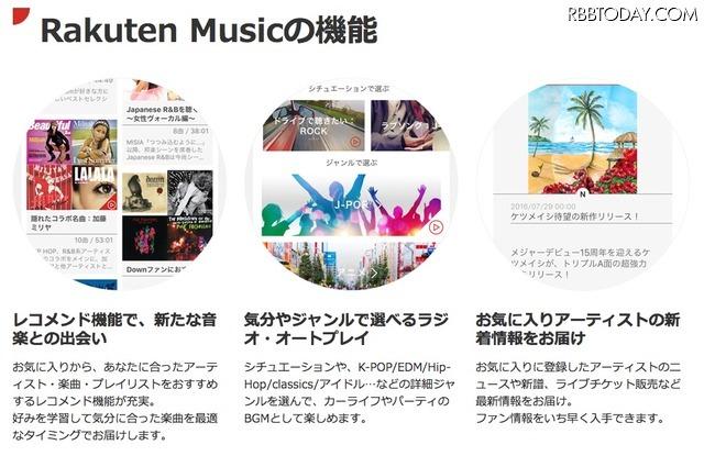 楽天、定額制音楽配信サービス参入!月額500円から「Rakuten Music」をスタート