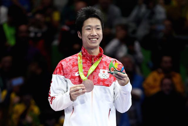 卓球日本代表の水谷隼がリオデジャネイロ五輪で銅メダルを獲得(2016年8月11日)