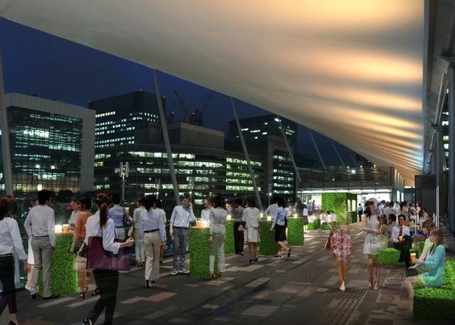 東京駅八重洲口 グランルーフ2階デッキで「グランルーフ ビアラウンジ」イメージ