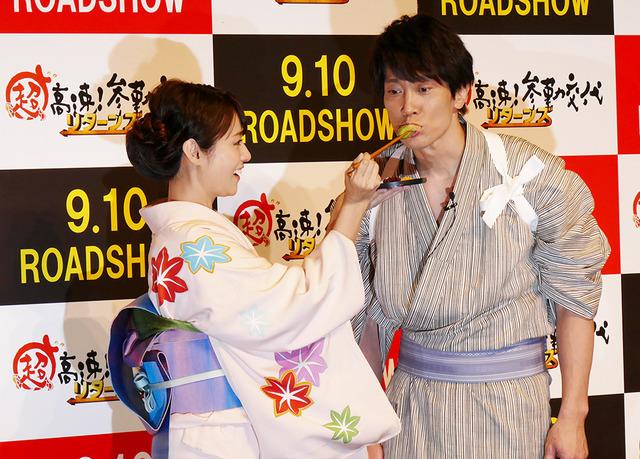 深田恭子、佐々木蔵之介『超高速!参勤交代 リターンズ』PRイベント