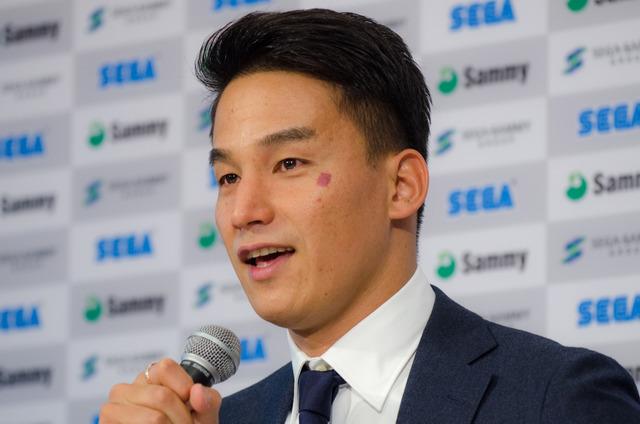 競泳選手の松田丈志が引退会見(2016年9月12日)