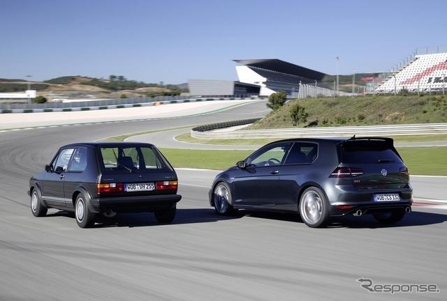 VW ゴルフGTI クラブスポーツと初代ゴルフGTI