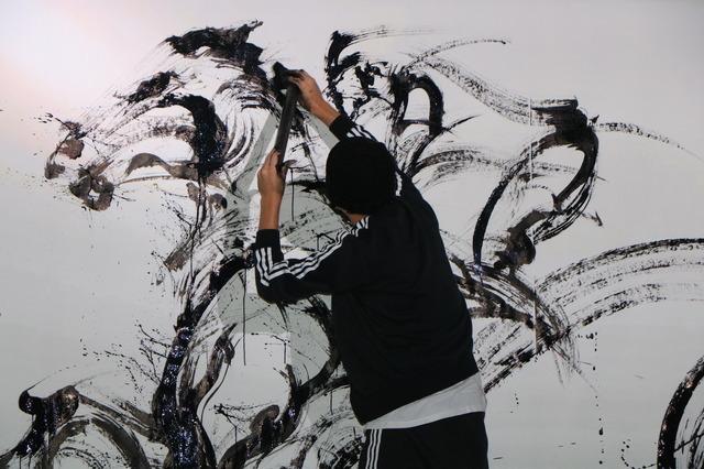 凱旋門賞Live Paint~墨絵士×透明人間~(2016年9月27日)