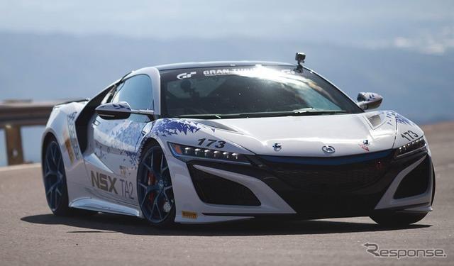 量産車クラスで優勝のホンダ NSX 新型