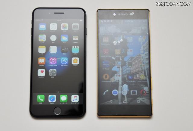 同じ5.5インチのスマホ、iPhone 7 PlusとXperia Z5 Premiumを比較してみるのが今回のテーマ