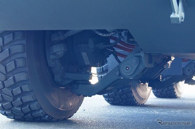 主眼に置いているのは「車高を可変させるシステム」であり、インホイールモーターの採用であるとか、フルEVは副産物だという。