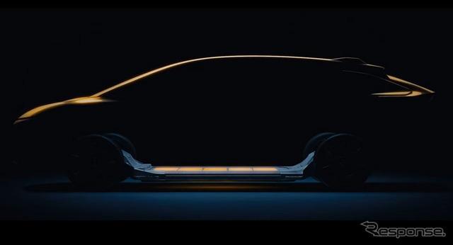 ファラデー・フューチャー初の市販EVの予告イメージ