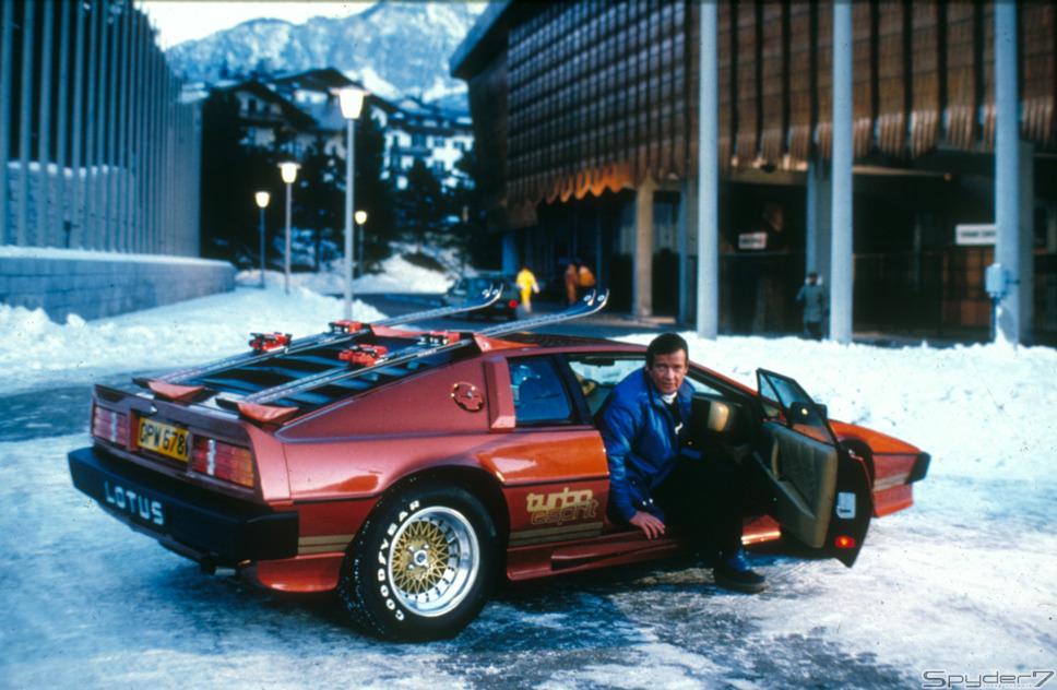 1981年 「ユア・アイズ・オンリー」 スキー場を舞台にスパイクタイヤを履いた「ロータス エスプリターボ」が暴れまくる!