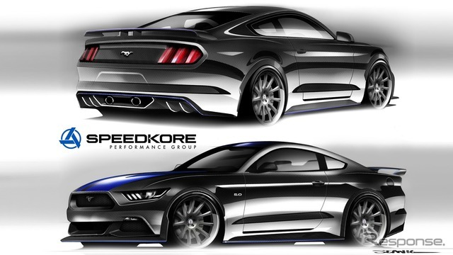 SPEEDKOREがカスタマイズするフォードマスタングの予告スケッチ