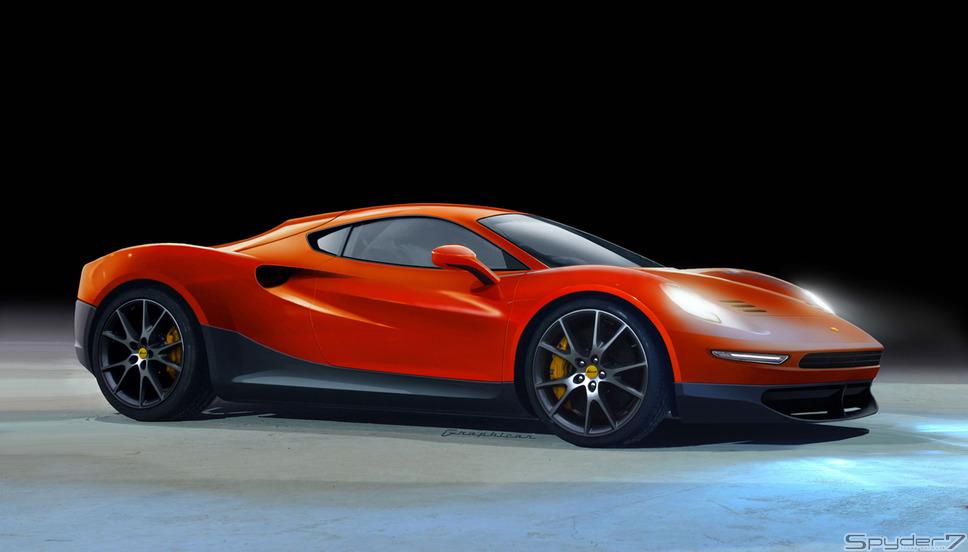 フェラーリ ディーノレンダリングCG