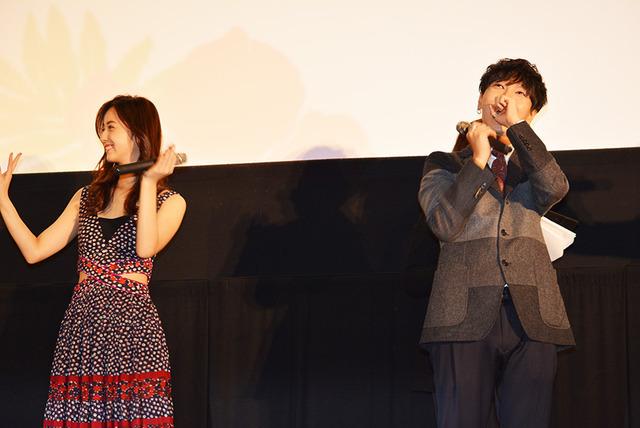 イェソン(「SUPER JUNIOR})&佐々木希/『いきなり先生になったボクが彼女に恋をした』初日舞台挨拶