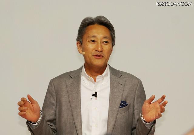 ソニーの平井社長(IFA 2015にて撮影)