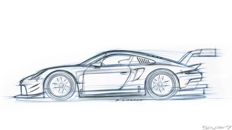 ポルシェ 911 RSRティザー広告