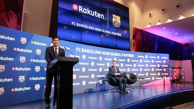 楽天、FCバルセロナとメインパートナー契約で基本合意