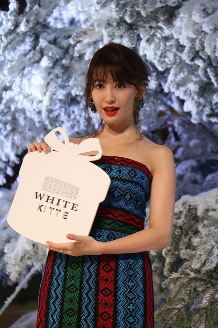 小嶋陽菜(AKB48)が「WHITE Tree ライトアップセレモニー」に登壇(2016年11月24日)