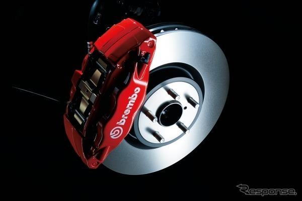 brembo製4輪ベンチレーテッドディスクブレーキ