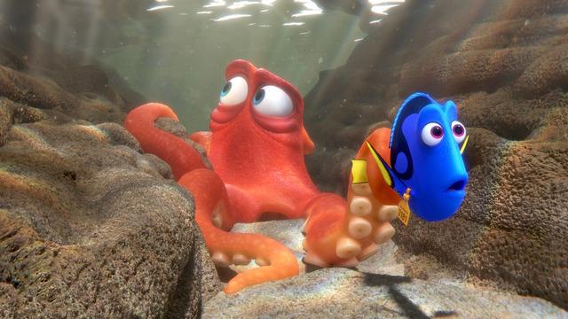 タコのハンク/『ファインディング・ドリー』(C)2016 Disney/Pixar. All Rights Reserved.