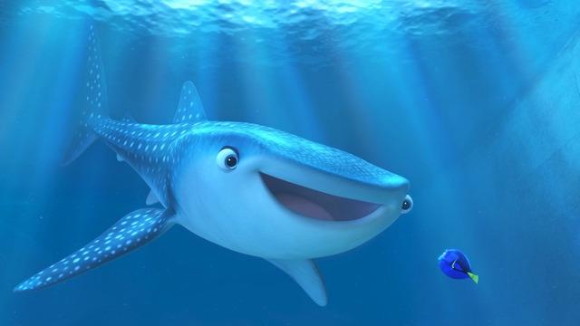 ジンベエザメのデスティニー/『ファインディング・ドリー』(C)2016 Disney/Pixar. All Rights Reserved.