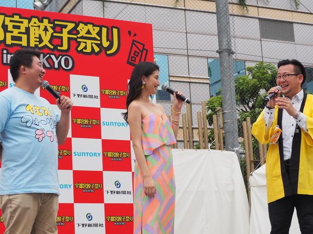 宇都宮餃子祭りin Tokyoオープニングセレモニー(2016年7月8日)
