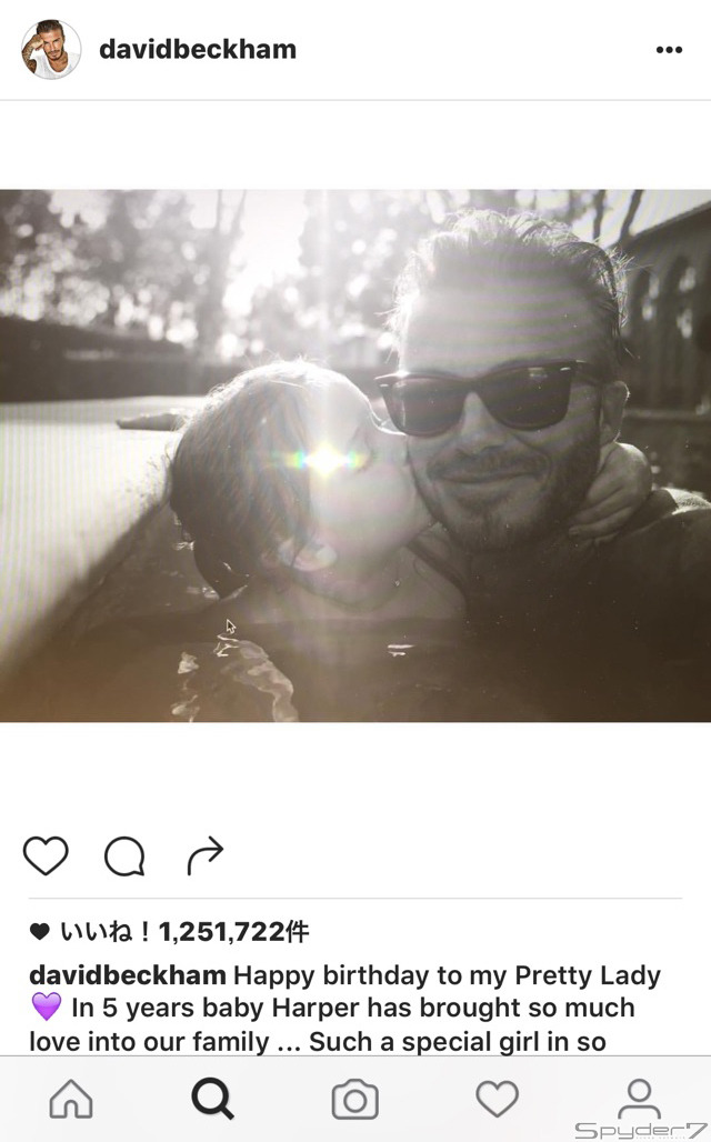 デヴィッド・ベッカム Instagramより